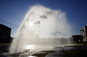 a broken water main spraying 15 feet in the air is no problem for our experienced techs